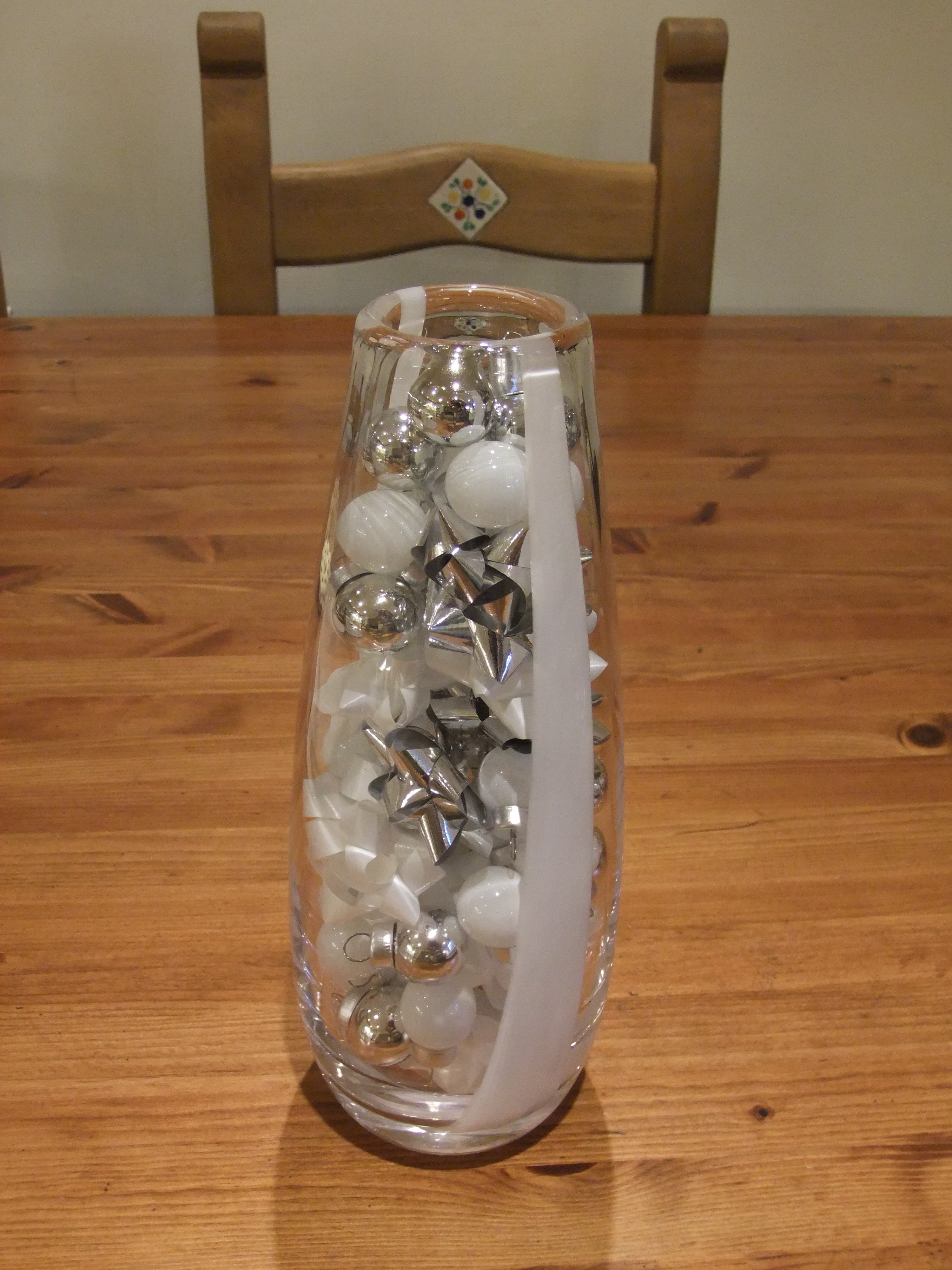 Large White Christmas Baubles
