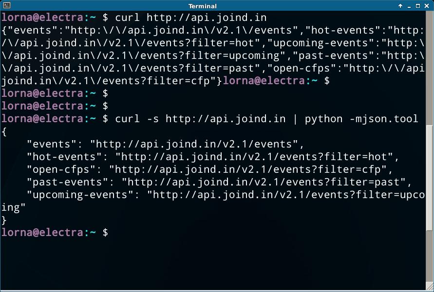 Pretty Printing Json With Python S Json Tool Lornajane