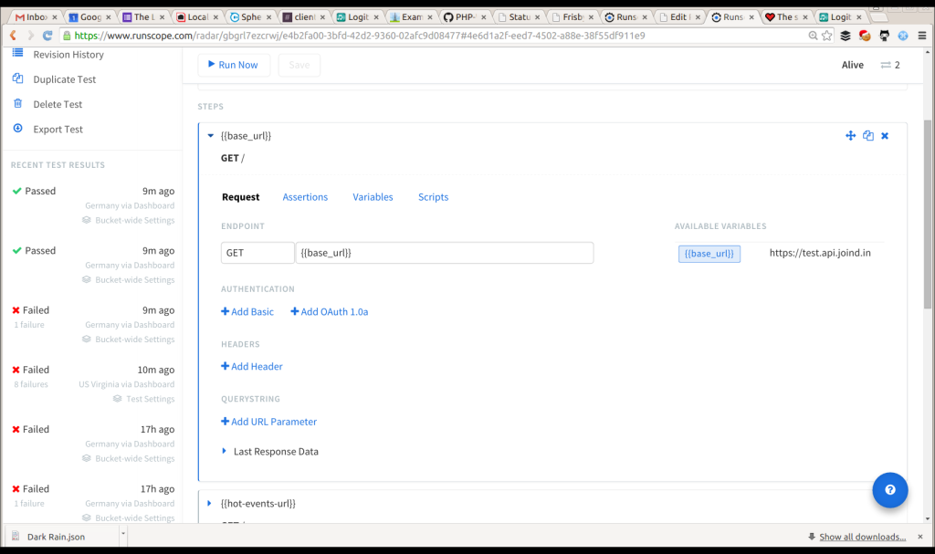 Create the first API call